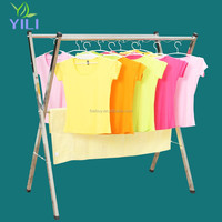 heavyduty folding extendable X type clothes hanger stainless steel clothes drying rack laundry rack
