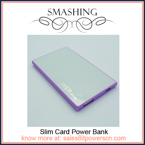 2200mah credit card size power bank for mobile backup