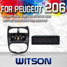 WITSON AUTO CAR DVD GPS NAVIGATION FOR PEUGEOT 206 2010 WITH CAPACTIVE SCREEN BLUETOOTH RDS 3G WIFI