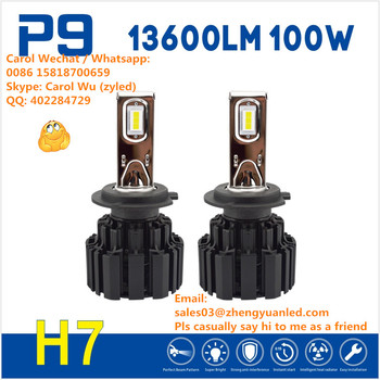 Best TOP 1 Bright 13600lm P9 50W h4 led flip headlight 100W led car lighting pk 10000lm hir2 motorcycle projector headlight L8