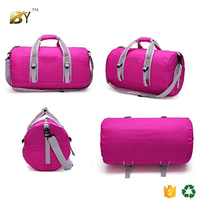 BINYI Travel Duffel Bag For Women & Men - Foldable Duffle For Luggage Gym Sports