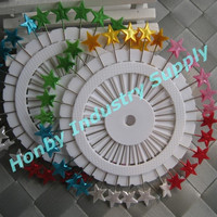 TNT or DHL Free Shipping 55mm Colored Lovely Star Shape Pearl Head Pin Wheel