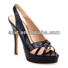 Trend-setting shoes for women sexy party shoes dressy high heeled sandals black shoes wholesale