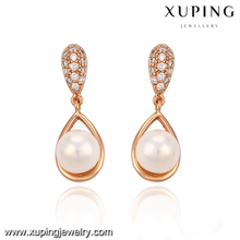 29309-New top design gold jhumka pearl earring for ladies