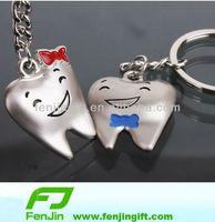 promotional metal keychain dental souvenir