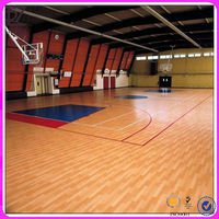 Wearable sports pvc flooring for basketball gym