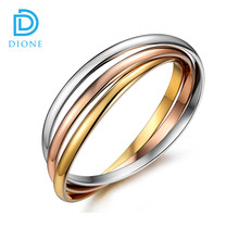 3 in 1 Simple Style Lover Jewelry 316L Stainless Steel Rose Gold Color Bracelets Bangles For Women Men