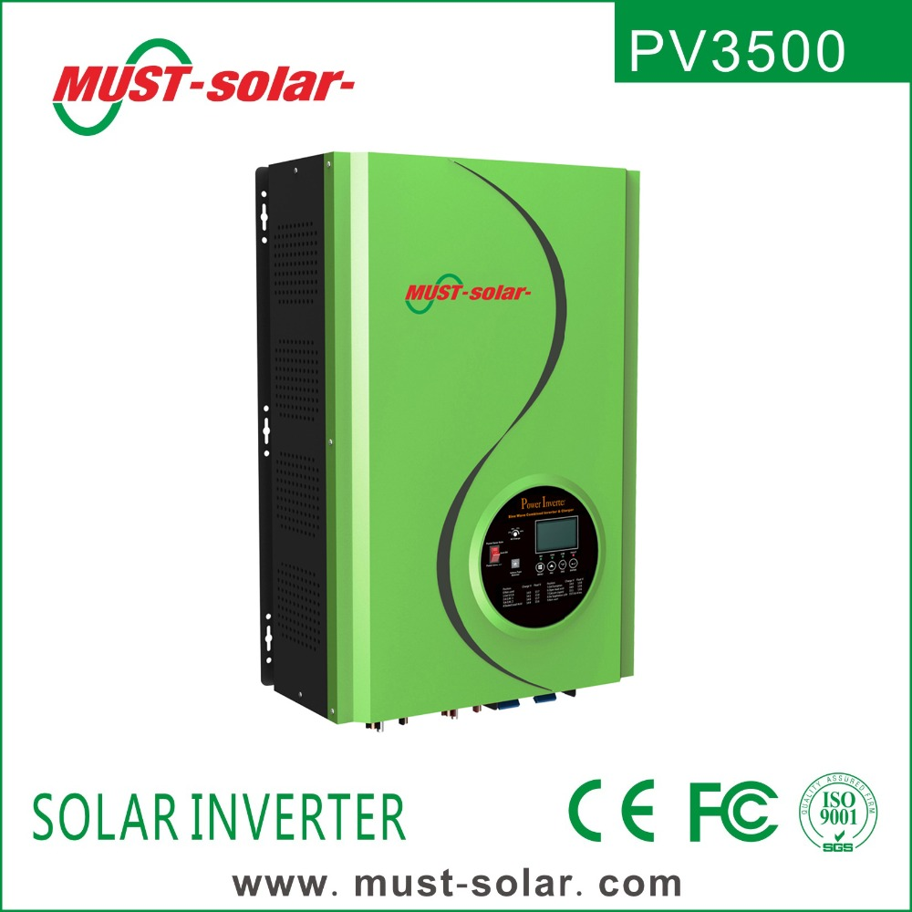 < Must Solar> PV3500 series new panel 4-12kw pure sine wave low frequency hybrid solar pv power inverter price