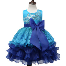 BL062A 2017 Hot selling Summer Children Flower Girls Net Dresses Round Neck A Line Sequin Girl tutu Dress
