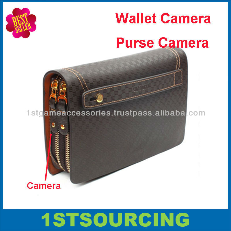 Fashionable wallet bag hidden camera , purse camera