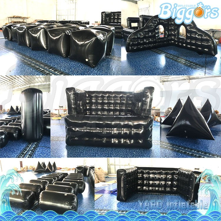 Nice Quality Cheap Inflatable Laser Tag Paintball Military Bunkers