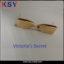 Victoria's secret brand metal logo name plate for handbag