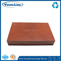 nice wooden tea box with velvet