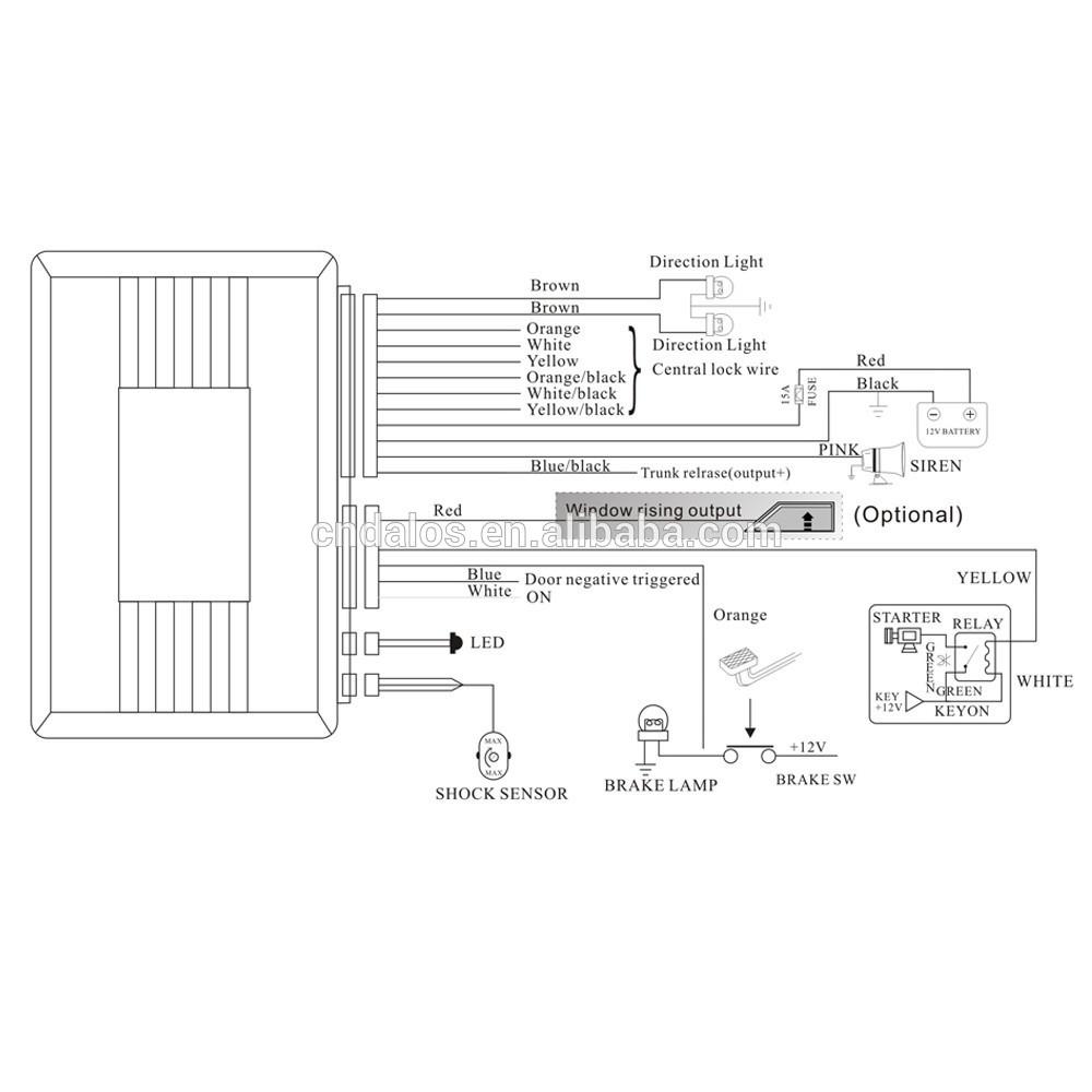 Generic Car Alarm Wiring Diagram Diagrams Library One Way Definitions