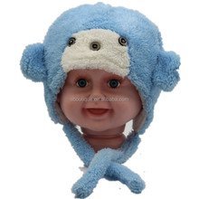 Cartoon Children Warm Hat, Warm Coral Fleece Baby Hat