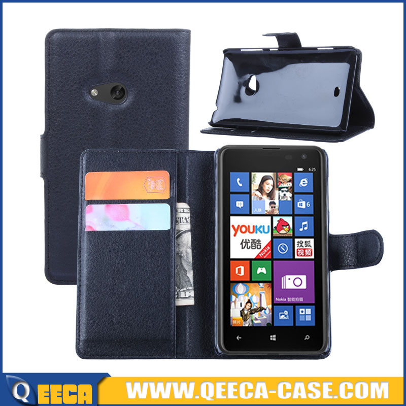 Mobile phone leather pouch case flip cover for nokia lumia 625