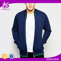 2017 Guangzhou Shandao OEM Custom 100% Cotton Long Sleeve Baseball Jacket Partial Zip Placket Blank Hoodies With No Labels