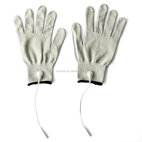 Massage electric gloves with silver fiber