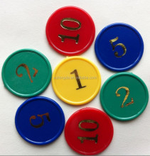 Plastic colorful kid playing token