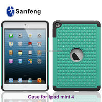 Dust proof Drop Resistant Manufacture Combo Cases For iPad Mini4 Diamond Cover Cases