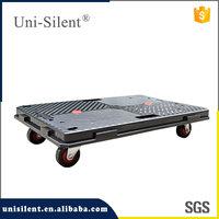 Uni-Silent interlocking plastic dollies trolley without handle PLA100Y-DL-B