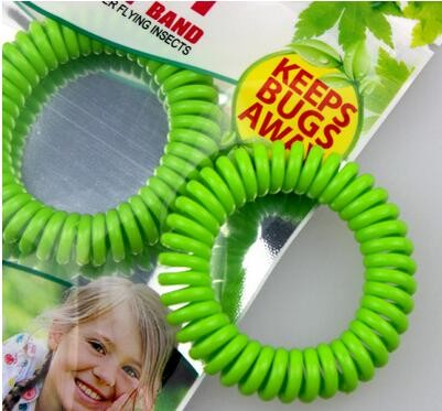 Spring Coil Anti Mosquito Bug Pest Repel Wrist Band Bracelet Insect Repellent