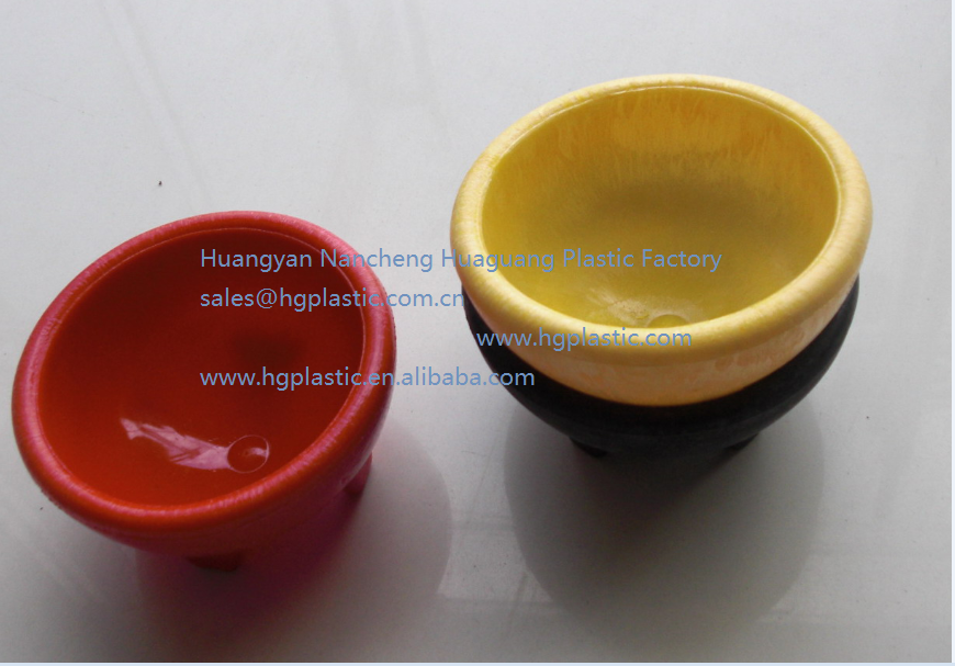 colorful plastic salad bowl