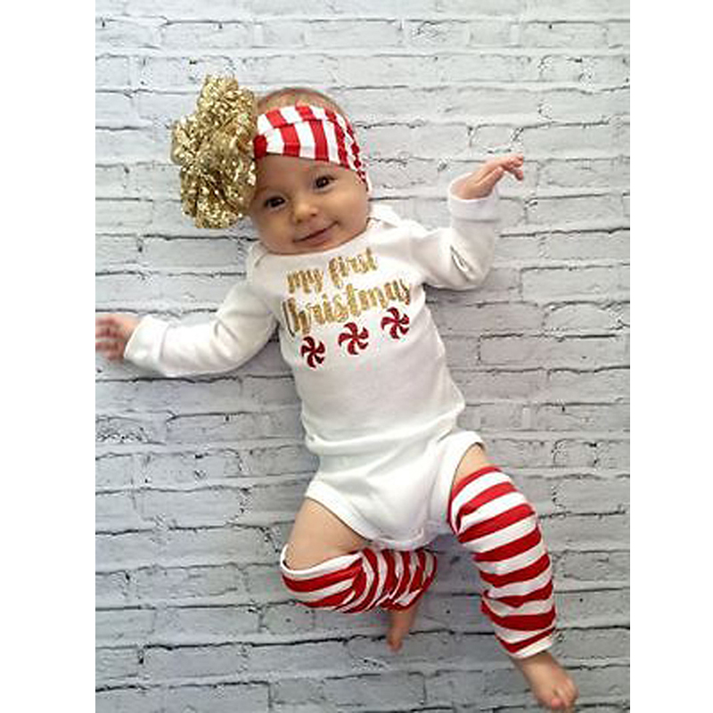<strong>c115</strong> European Fashion Summer Baby Girl Gold Letter 3pcs Rompers Striped Knee Leggings Headband Cotton Suit
