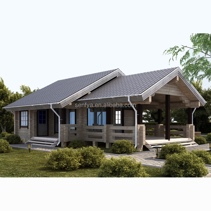 new design fast assembly log cabins homes prefabricated with big tgerrace
