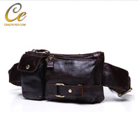 Top Quality Wax Oil Waist Bag Real Leather Waist Bag Pack