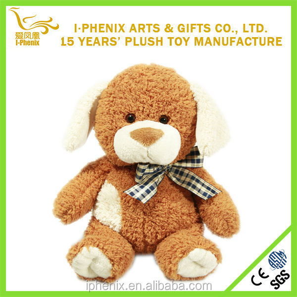 Top popular lovely cartoon character cute brown custom sitting dog stuffed plush kids toy plush toy, animal plush toy