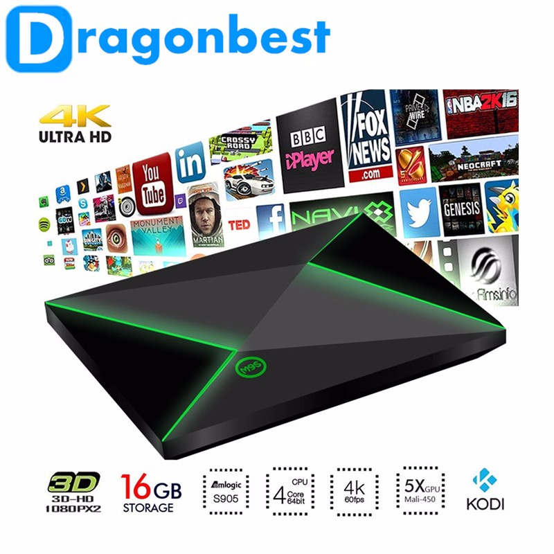 Dragonbest Pendoo TV BOX quad core full hd 1080 google play app android tv box M9S Z8 Amlogic S905 smart player
