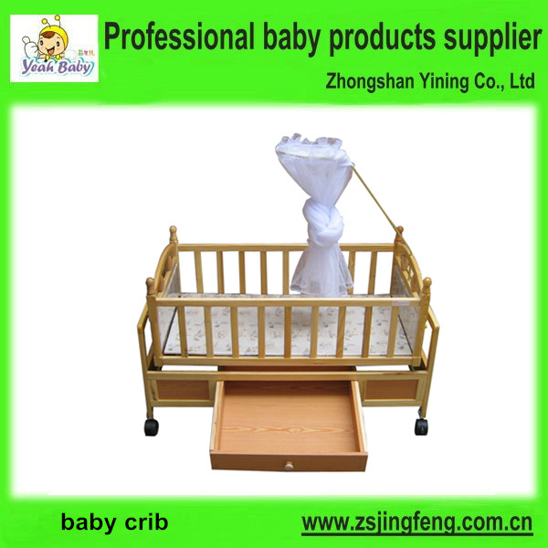 Fashional New Born Wood Bed Luxury Child Cot