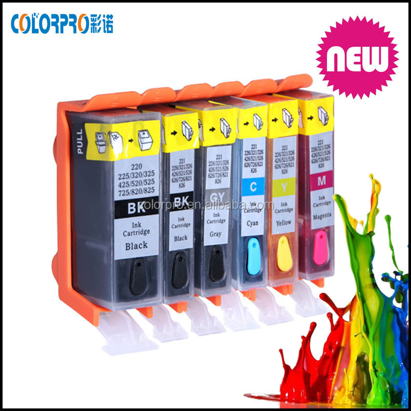For canon ix6560 reset PGI-725 CLI-726 PGI-725 CLI-726 Compatible Ink Cartridge