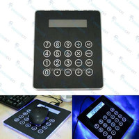 Slim Usb Hub 4 Ports Mouse Pad Blue Led Light Calculator For Computer