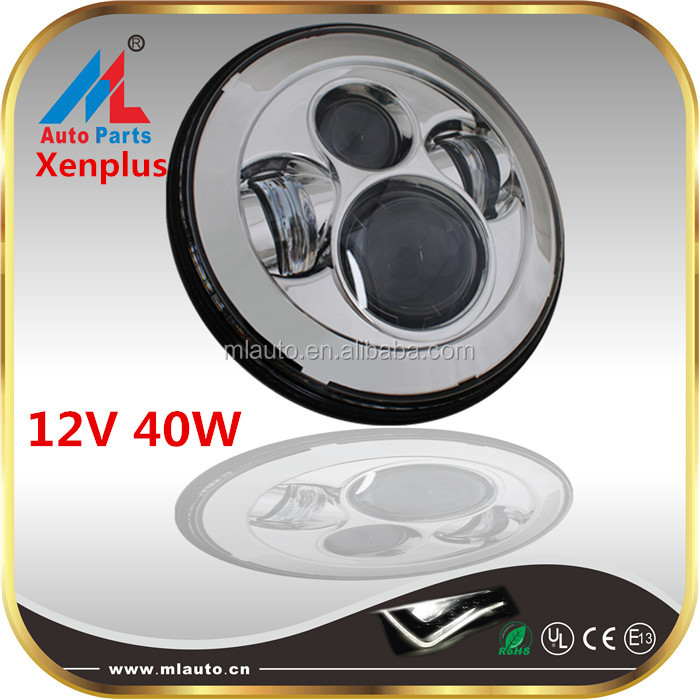 Magnetic 12V 40w hi low beam healights 3200LM 7000k 7inch car led headlight for jeep heavy truck