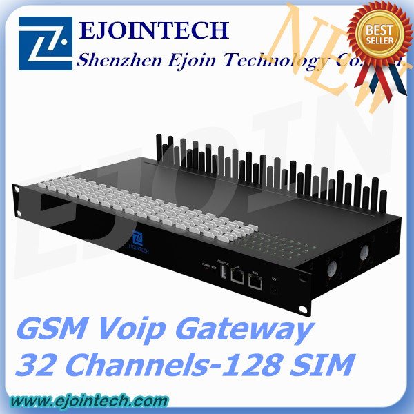 12 months warranty!! Ejointech 32 Ports 32/128 Sims goip gsm gateway 32 channel gateway networking device