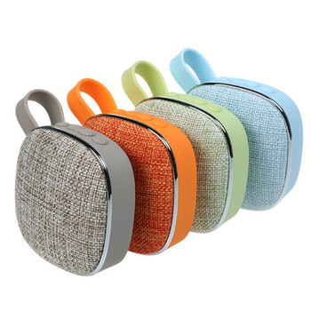 Fabric Bluetooth Speaker Support OEM Logo TF Card FM High Quality Stereo Portable Wireless Speaker