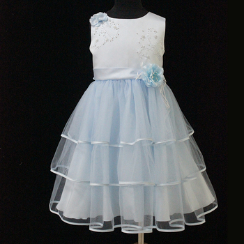 D30647T Lovely flower princess girl toddler evening dress for wedding