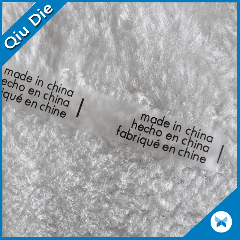 Good Quality Soft TPU Silicone Print Care Label for Swimwear