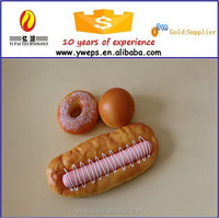 Hot sale hand-made fake food bread model for decoration/decorative artificial bread