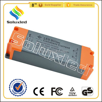 16*3W Constant Current LED Driver 600mA High PFC Non-stroboscopic With PC Cover For Indoor Lighting