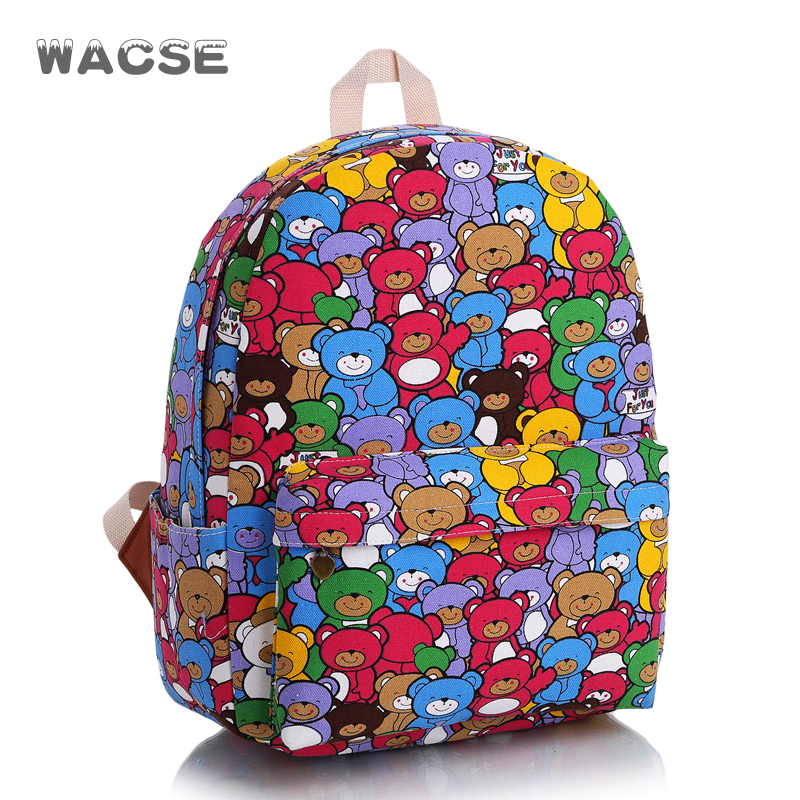 Large capacity cute bears cartoon school bag