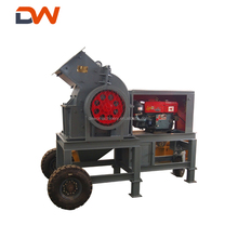Mini Small Mobile Lab Diesel Glass Gold Stone Hammer Mill Crusher