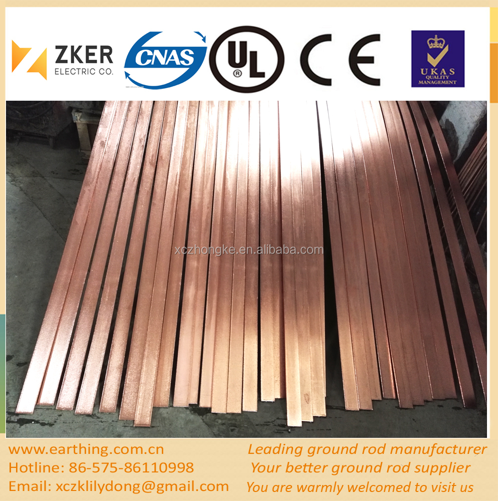 copper clad high tensile flat steel bars