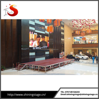 Hot sale 4ft by 8ft aluminum foldable stage