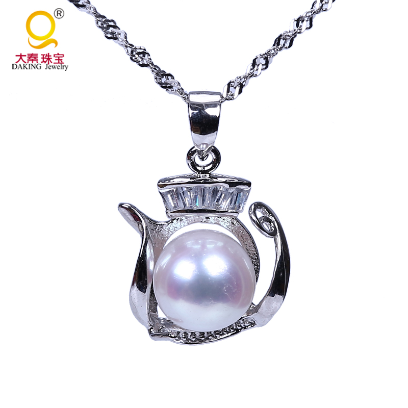 Hot and trendy necklace jewelry design pearl pendant,S925 pearl necklace