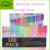 100 Gel Pens with Case for Adult Scrapbooking Drawing Writing Including Glitter Metallic Pastel Neon Swirl Glitter-Neon Classic