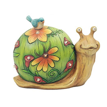 Resin Garden Statues Solar Lights Snail Garden Decor for Sale