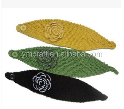 Knit Pattern Headband With Button Closure : Winter Fashion Cheap Knit Headband With Button Closure ...